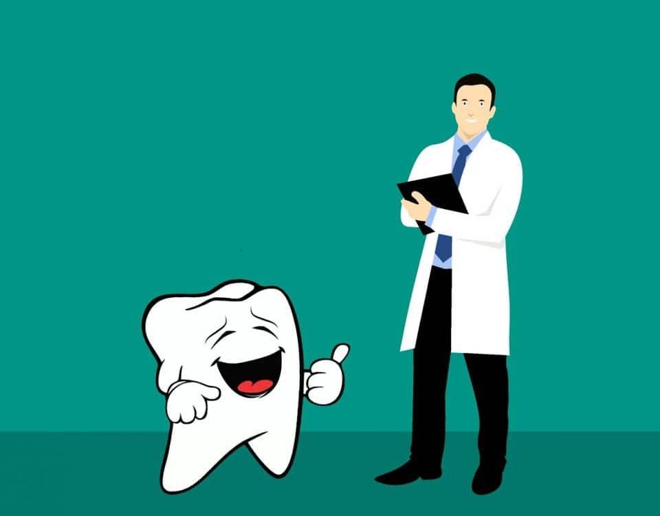 De tandarts en tandartstechnicus fobie